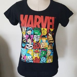 Marvel Black Short Sleeve Tee Size S Juniors